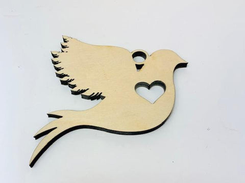 Dove Tree Ornament, Wood Dove Ornament, Wooden Christmas Decoration, Laser cut Christmas Dove, Christmas Gift