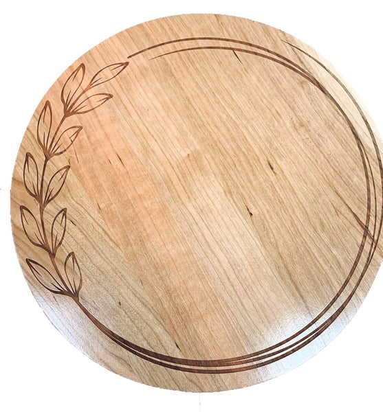 Lazy Susan / Heartland Wheat Design, Custom Lazy Susan, Personalized Lazy Susan, Kitchen Turntable, Solid Wood, Handcrafted