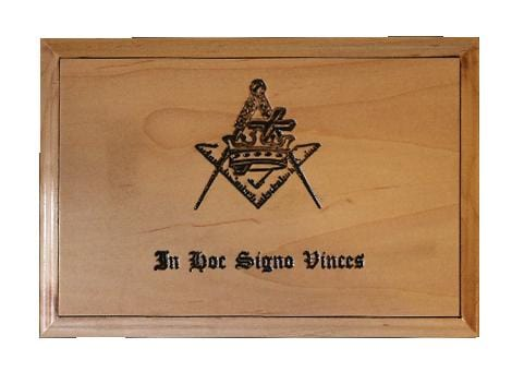 Masonic Urn for Ashes, Handcrafted From Solid Maple Hardwood, Past Master, Scottish Rite, Free Mason or Knights Templar