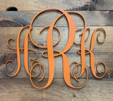 Personalized Monogram Door Hanger - Wall Decor - Wreath - Personalized Gift