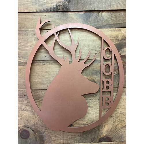 Personalized Deer Door Hanger / Wreath - Hunting Theme