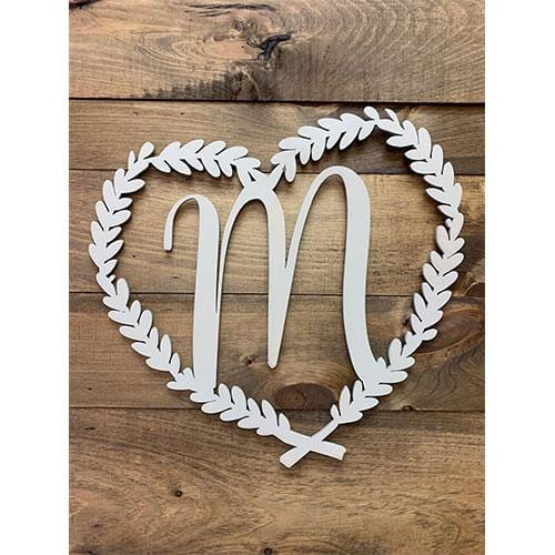 Personalized Initial / Monogram/ Heart Door Hanger-Wreath-Wall Decor - Personalized Gift