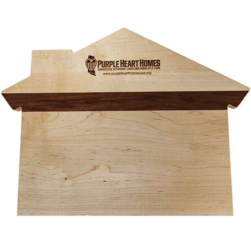 Purple Heart Homes Cutting / Serving Board, Supports our Veterans