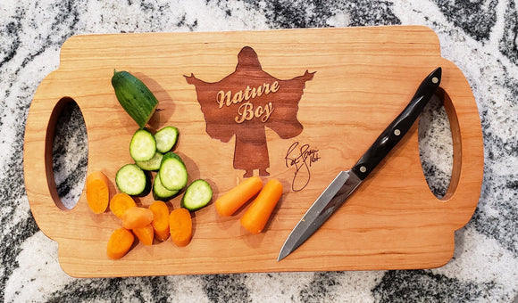 Ric Flair Nature Boy Signature Charcuterie / Cutting/ Serving Board, with Handles
