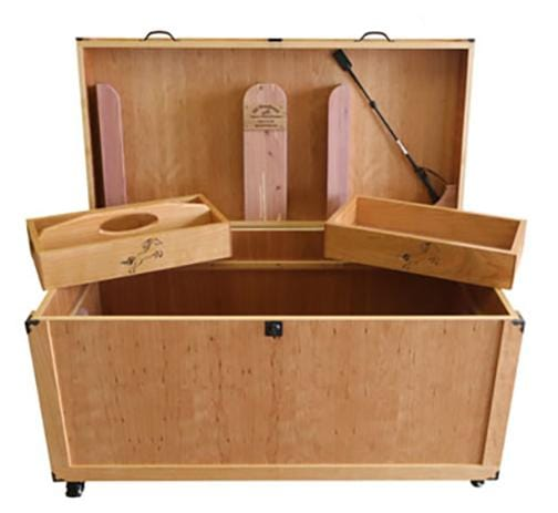 Horse / Equine Tack Box,  Handcrafted from Cedar and Cherry Wood