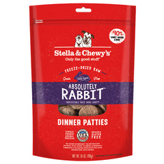 Stella Chewy Freeze-dried Rabbit dinner patties 25 oz