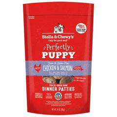 Stella & Chewy's Perfectly Puppy Chicken & Salmon Freeze-dried raw dinner patties 14 oz