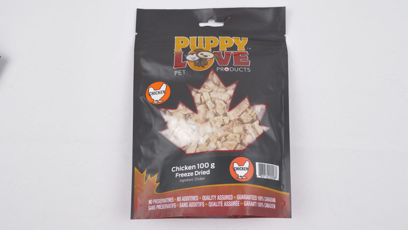 Puppy Love Freeze-Dried Chicken Breast 100 grams