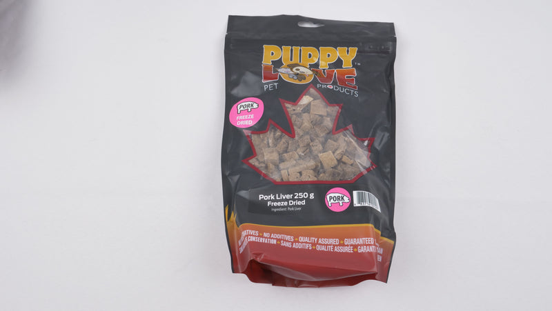 Puppy Love Freeze-Dried Pork Liver 250 grams