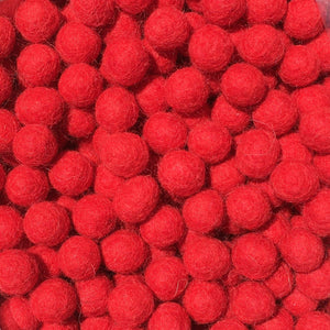 1cm Red Color Felt Balls