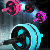 Abdominal Wheel Ab Roller & Jump Rope with Mat for Fitness Exercise