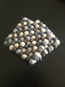 10cm Square Felt Ball Tea Coasters
