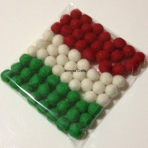 1cm Felt Balls - Christmas Bundle