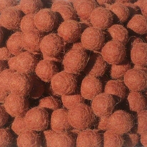 1cm Brown Colour Felt Balls