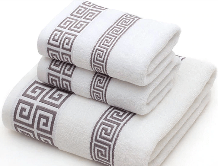 3pc Cotton Bath and Hand Towel Set for Sports and Travelling - Mimosa Crafts