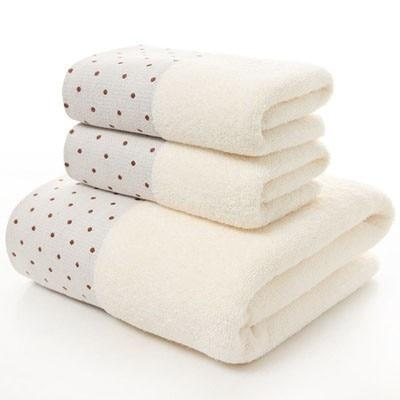 3pc Cotton Bath and Hand Towel Set - Mimosa Crafts