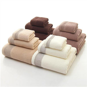 3Pcs Luxury Hotel & Spa Quality High-grade 100% Cotton Bath Towels - Mimosa Crafts