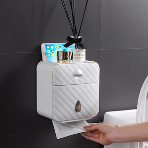 Wall Mounted Toilet Paper Tray Roll Paper Towel Holder Box