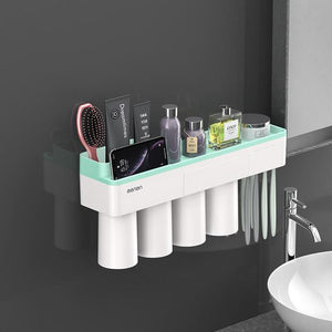 Wall Mounted Creative Toothbrush Holder and Bathroom Accessories Set