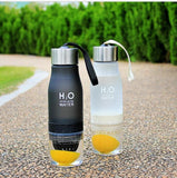 650ml Water Fruit infusion H2O Energy Drink Bottle - Mimosa Crafts