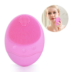 Electric Facial Cleaning Brush Massager