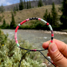 "Load image into Gallery viewer, ""Wyoming Sunrise"" Cotton Wanderlust Bracelet"
