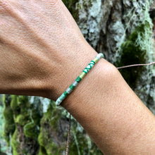 "Load image into Gallery viewer, ""Evergreen"" Cotton Wanderlust Bracelet"