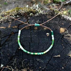 """Evergreen"" Cotton Wanderlust Bracelet"