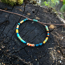"Load image into Gallery viewer, ""Rivers and Woods"" Cotton Wanderlust Bracelet"