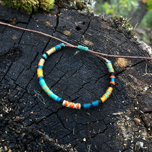 """Rivers and Woods"" Cotton Wanderlust Bracelet"
