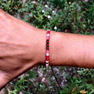 """Montana Summer II"" Cotton and Merino Wool Wanderlust Bracelet"