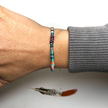 "Load image into Gallery viewer, ""Livewire"" Fiber Threads with Merino Wool Wanderlust Bracelet"