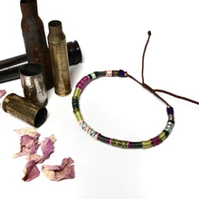 "Load image into Gallery viewer, ""Briar Rose"" Fiber Threads with Merino Wool Wanderlust Bracelet"