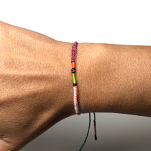 "Load image into Gallery viewer, ""Caterpillar"" Fiber Threads with Merino Wool Micro-Wanderlust Bracelet"