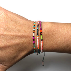 """Caterpillar"" Fiber Threads with Merino Wool Micro-Wanderlust Bracelet"