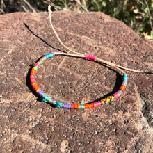 "Load image into Gallery viewer, ""Travelin' Tumbleweed"" Cotton with Apatite, Turquoise, and Ethiopian Opal Wanderlust Bracelet"