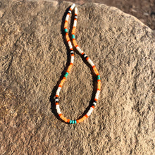 "Load image into Gallery viewer, ""Dirt Road Dreamer"" Turquoise Stone and Seed Bead Spirit Bracelet"