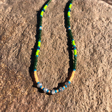 "Load image into Gallery viewer, ""Silver and Pine"" Labradorite, Ethiopian Opal, and Seed Bead Spirit Bracelet"