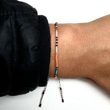 "Load image into Gallery viewer, ""On the Road"" Various Fiber Threads Micro-Wanderlust Bracelet"