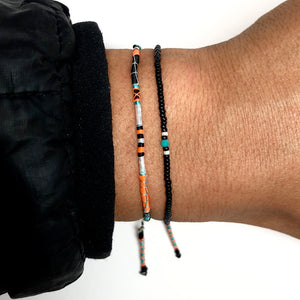 """Live, Travel, Adventure"" Turquoise and Seed Bead Spirit Bracelet"