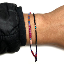 "Load image into Gallery viewer, ""Be in Love with your Life"" Alpaca Wool and Various Fiber Threads Micro-Wanderlust Bracelet"