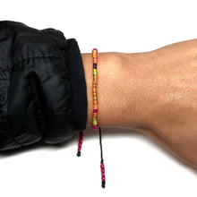 "Load image into Gallery viewer, ""Everything Ahead of Me"" Alpaca Wool and Various Fiber Threads Micro-Wanderlust Bracelet"