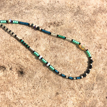 "Load image into Gallery viewer, ""September Sky"" Ethiopian Opal, Turquoise, Glow Beads, and Seed Bead Spirit Bracelet"