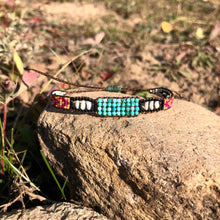 "Load image into Gallery viewer, ""Bohemian Dream"" Turquoise, Pearl, and Seed Bead Dream Bracelet"