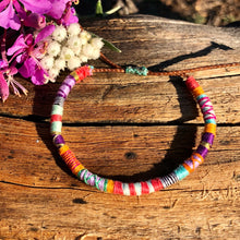 "Load image into Gallery viewer, ""Wander and Wonder"" Cotton Wanderlust Bracelet"