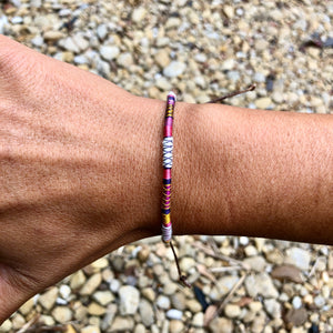 """Dreamweaver"" Fiber Threads with Merino Wool Wanderlust Bracelet"