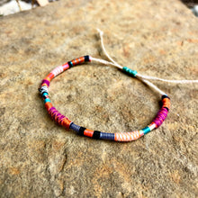 "Load image into Gallery viewer, ""Unicorn Dust"" Fiber Threads with Opal Stone Wanderlust Bracelet"
