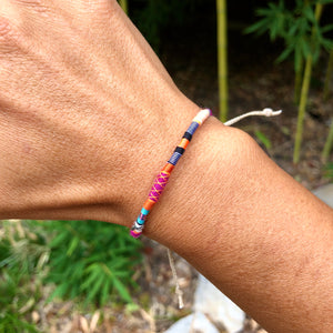 """Unicorn Dust"" Fiber Threads with Opal Stone Wanderlust Bracelet"