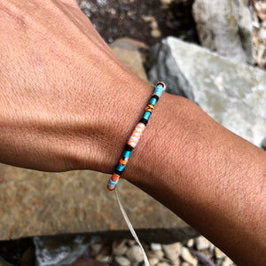 """Wind and Waves"" Fiber Threads with Merino Wool Wanderlust Bracelet"