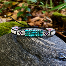 "Load image into Gallery viewer, ""It Was All a Dream"" Turquoise, Pearl, and Seed Bead Dream Bracelet"